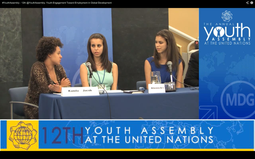 Paige and Ashley Alenick Address the United Nations Youth Assembly